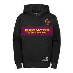 Brisbane Broncos 2021 Mens Hoodie, Black, rebel_hi-res