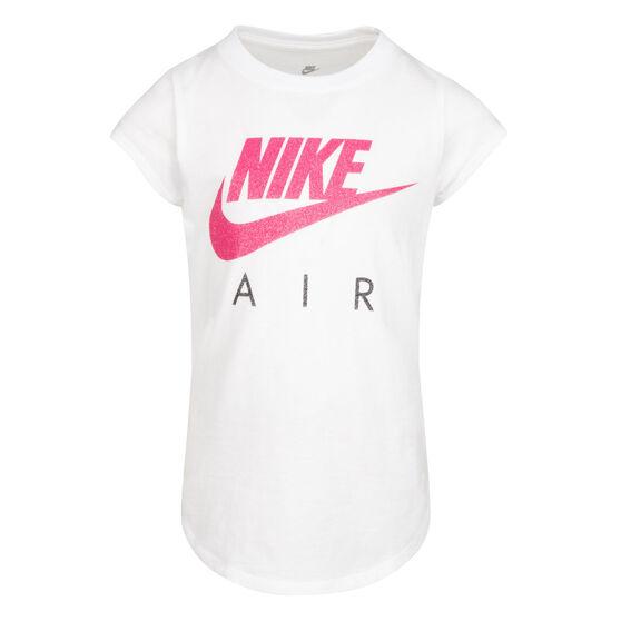 Nike Girls Futura Air SS Tee, White, rebel_hi-res