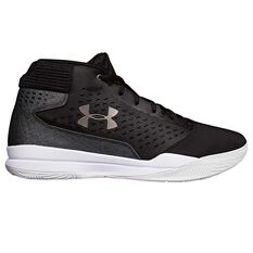 Under Armour Jet Mid Mens Basketball Shoes Grey / White US 7, Grey / White, rebel_hi-res