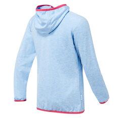 Tahwalhi Girls Glide Full Zip Hoodie Blue 4, Blue, rebel_hi-res