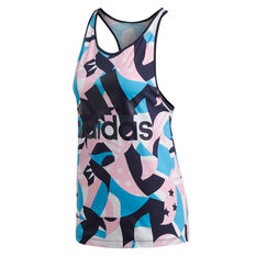 adidas Womens Sport ID Printed Tank, Print, rebel_hi-res