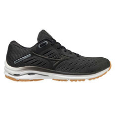 Mizuno Wave Rider 24 Mens Running Shoes Black/Gum US 8, Black/Gum, rebel_hi-res