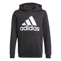 adidas Boys VF Essential Big Logo Hoodie Black 4, Black, rebel_hi-res