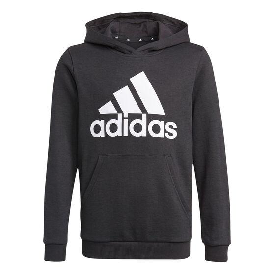 Adidas Boys VF Essential Big Logo Hoodie, Black, rebel_hi-res