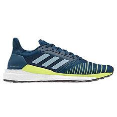 adidas Solar Glide Mens Running Shoes Blue / Yellow US 7, Blue / Yellow, rebel_hi-res