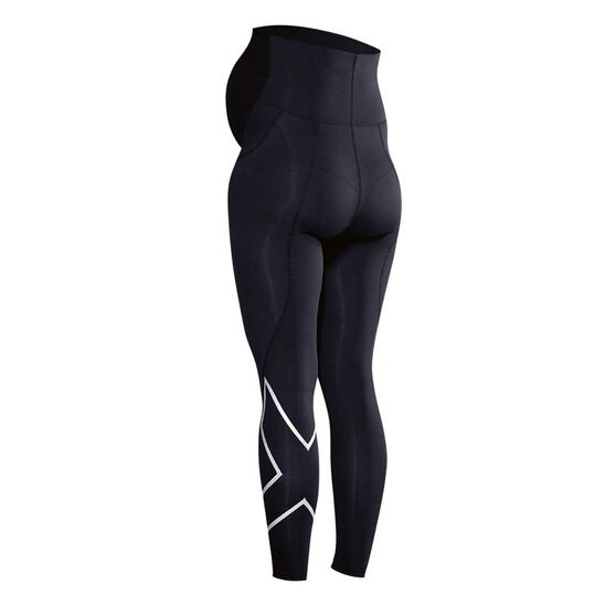 2XU Womens Prenatal Active Tights Black / Silver XS, Black / Silver, rebel_hi-res
