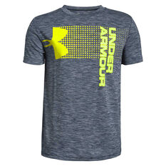 Under Armour Boys Crossfade Tee Blue / Green XS, Blue / Green, rebel_hi-res