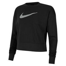 Nike Womens Dri-FIT Get Fit Training Sweatshirt Black XS, Black, rebel_hi-res