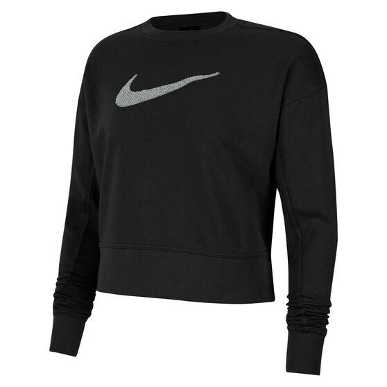 Nike Womens Dri-FIT Get Fit Training Sweatshirt, Black, rebel_hi-res