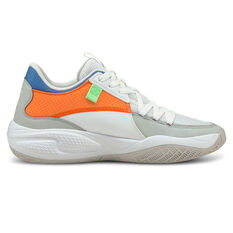 Puma Court Rider Twofold Basketball Shoes White US 7, White, rebel_hi-res