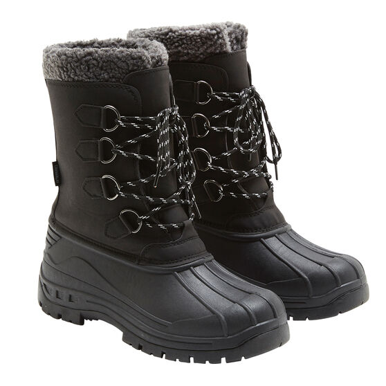 Tahwalhi Park Mens Snow Boots Black 9, Black, rebel_hi-res