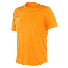 Umbro Mens League Knit Jersey Orange S, Orange, rebel_hi-res