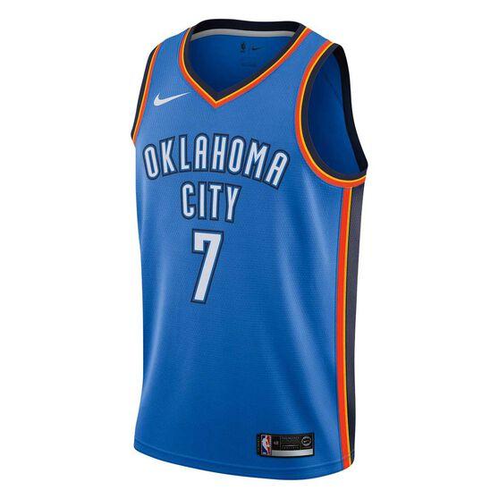 Nike Oklahoma City Thunder Carmelo Anthony Icon 2018 Mens Swingman Jersey Signal Blue S, Signal Blue, rebel_hi-res