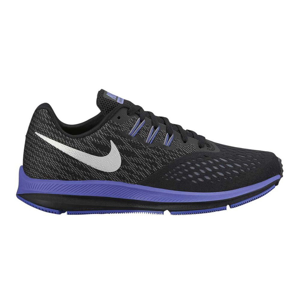 online store 15a5a 10a5f Nike Zoom Winflo 4 Womens Running Shoes Black   Silver US 6.5, Black    Silver