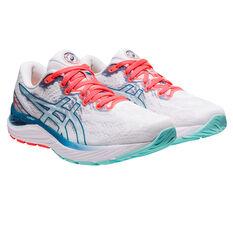 Asics GEL Cumulus 23 Celebration of Sport Womens Running Shoes, White/Coral, rebel_hi-res