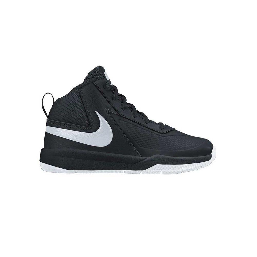 a0db7d4b7f Nike Team Hustle D 7 Junior Boys Basketball Shoes Black / Silver US 1, Black