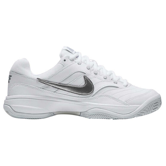 1171f216cc8f30 Nike Court Lite Womens Tennis Shoes White   Silver US 6