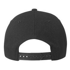 Collingwood Magpies New Era Black on Black 9FORTY Cap, , rebel_hi-res