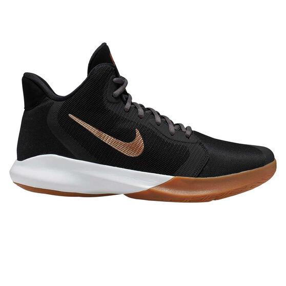 Nike Precision III Mens Basketball Shoes, Black / Grey, rebel_hi-res
