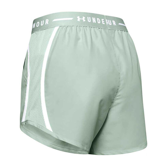 Under Armour Womens UA Fly By Exposed Shorts, Green, rebel_hi-res