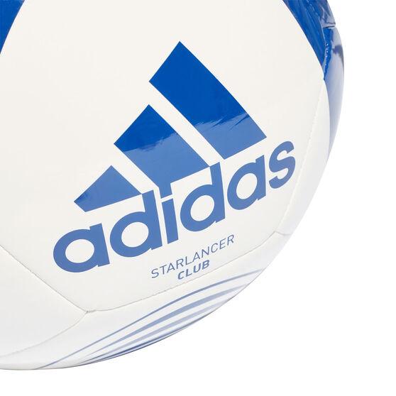 adidas Starlancer Club Soccer Ball, White Blue, rebel_hi-res