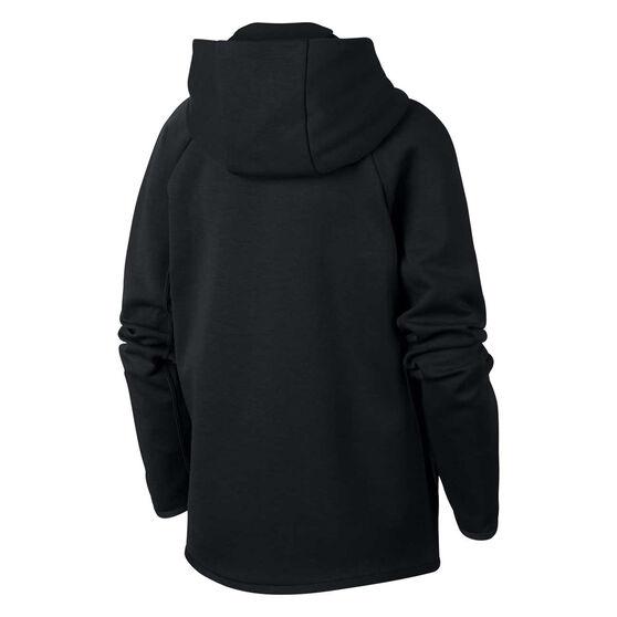 Nike Boys Sportswear Tech Fleece Hoodie Black / White S, Black / White, rebel_hi-res