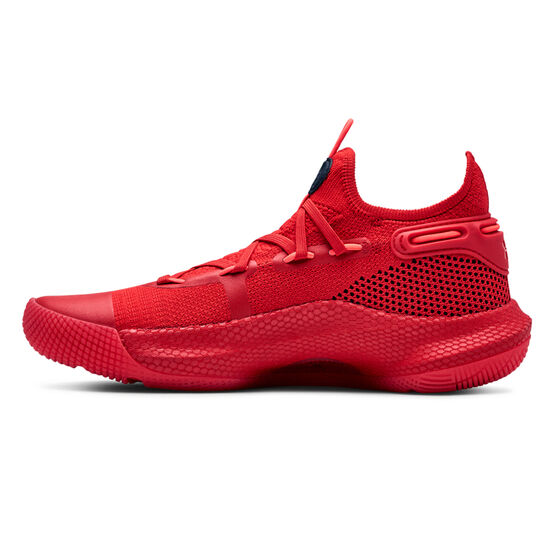 55cc93dc7cf3 Under Armour Curry 6 Kids Basketball Shoes Red   Black US 4