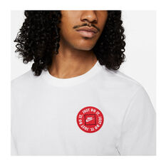 Nike Mens Sportswear Just Do It LBR Tee White XS, White, rebel_hi-res