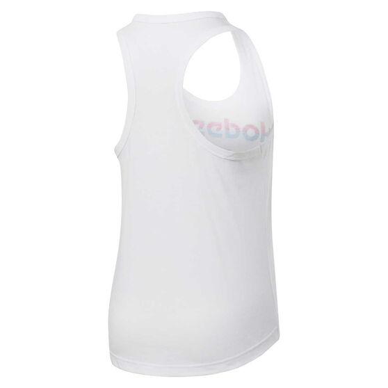 Reebok Womens Workout Ready MYT Graphic Tank, White, rebel_hi-res