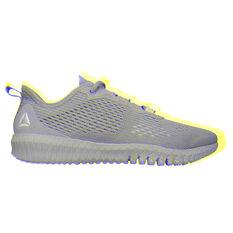 Reebok Flexagon Womens Training Shoes Grey / White US 5, Grey / White, rebel_hi-res