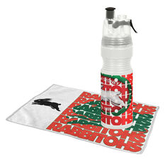 South Sydney Rabbitohs Water Bottle and Gym Towel Pack, , rebel_hi-res