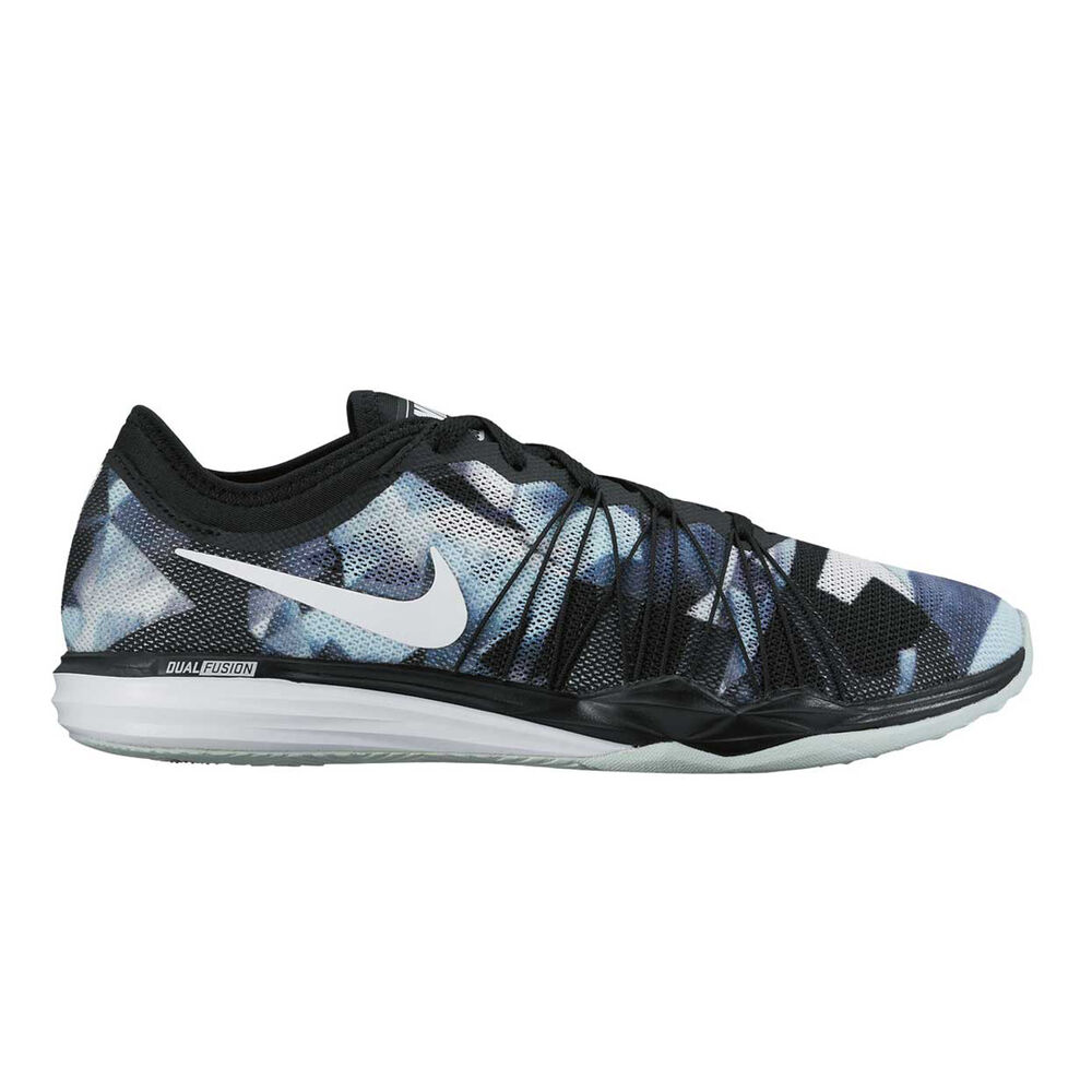 Nike Dual Fusion HIT Womens Training Shoes Black   Blue US 6  6a5494a3c7