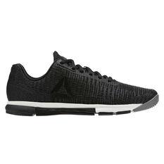 Reebok Speed Trainer Flexweave Womens Training Shoes Grey / Black US 6, Grey / Black, rebel_hi-res