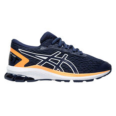 Asics GT 1000 9 Kids Running Shoes US 1 Navy / Orange, , rebel_hi-res