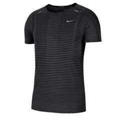 Nike Mens TechKnit Ultra Running Tee Black S, Black, rebel_hi-res
