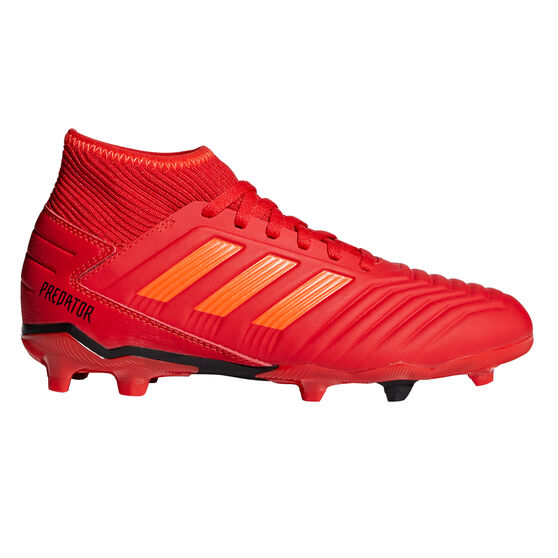 adidas Predator 19.3 Kids Football Boots, Red / Black, rebel_hi-res