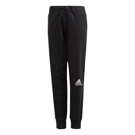 adidas Girls Z.N.E. Relaxed Pants, Black/White, rebel_hi-res