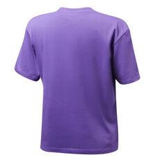 Mitchell & Ness Womens Stars Logo LA Lakers Tee Purple XS, Purple, rebel_hi-res