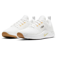 Nike Renew In-Season TR 10 Womens Training Shoes, White/Gold, rebel_hi-res