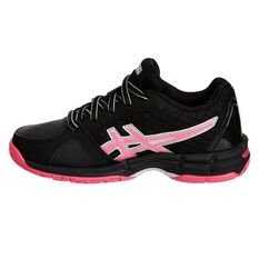 Asics Gel Netburner Super 8 Girls Netball Shoes Black / Pink US 1, Black / Pink, rebel_hi-res