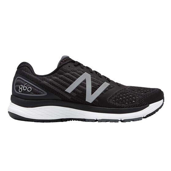 New Balance 860v9 Mens Running Shoes Black US 8, Black, rebel_hi-res