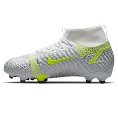 Nike Mercurial Superfly 8 Academy Kids Football Boots Silver/Volt US 1, Silver/Volt, rebel_hi-res