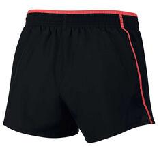 Nike Womens 10k Running Shorts Black / Red XS, Black / Red, rebel_hi-res