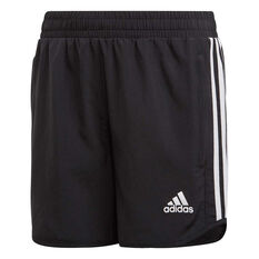 adidas Girls Training Equip Long Shorts, Black/White, rebel_hi-res