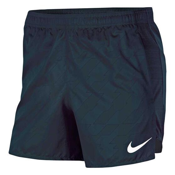 Nike Mens Future Fast Challenger Printed Running Shorts, Black, rebel_hi-res