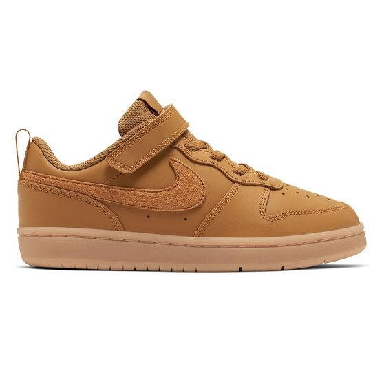Nike Court Borough Low 2 Kids Casual Shoes, Brown, rebel_hi-res