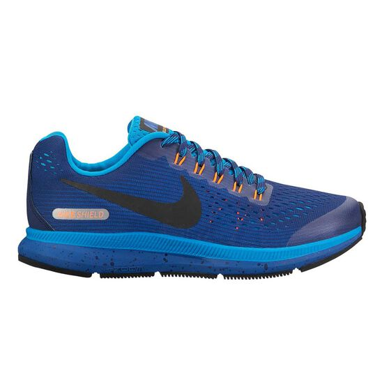 645409cd72c2 Nike Air Zoom Pegasus 34 Shield Boys Running Shoes Blue US 4