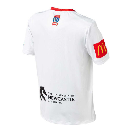 Newcastle Jets FC 2019/20 Mens Away Jersey, White, rebel_hi-res