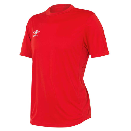 Umbro Mens League Knit Jersey, Red, rebel_hi-res