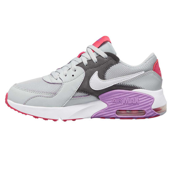 Nike Air Max Excee Kids Casual Shoes, Grey / Purple, rebel_hi-res